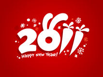 New Years card 2011. Royalty Free Stock Images