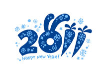 New Years card 2011. Royalty Free Stock Photo