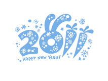 New Years card 2011. New Years card 2011,  illustration Royalty Free Stock Photography