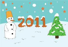New Years card 2011 Stock Image