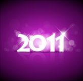 New Years card 2011. With back light and place for your text Stock Images