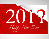 New Years card 2011. Red backround New Years card 2011 Stock Photo