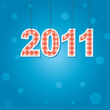 New Years card 2011 . Vector illustration Royalty Free Stock Photography