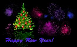 New Years card royalty free stock photo