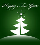 New Years card. Card with a fir-tree for new year vector illustration