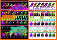 New years card. (Vector)  Royalty Free Stock Image