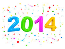 2014 New Years Celebration Balloons Stock Images