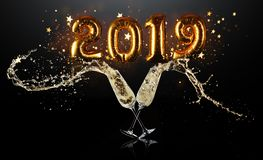 New Years celebration concept stock photography