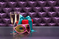 New Years celebration items Royalty Free Stock Images