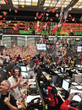 New Years Chicago Board of Trade motion blur Stock Photo