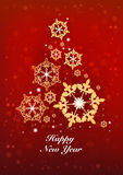New Years and Christmas red background Stock Images