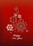 New Years and Christmas red background Royalty Free Stock Photo