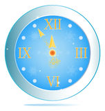 New Years clock. Holiday concept royalty free illustration