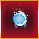 New Years clock. On a abstract background vector illustration