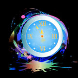 New Years clock. Holiday concept Royalty Free Stock Photo