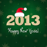 New Years Composition With Santa Hat. Vector Illustration royalty free illustration