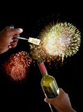 New years cork 4 Royalty Free Stock Photography