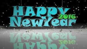 New Years 3D Swinging Text Animation stock footage