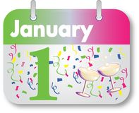 New Years Day Calendar Date Stock Image