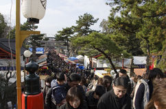 New years day Japanese going to the Shrine Royalty Free Stock Images
