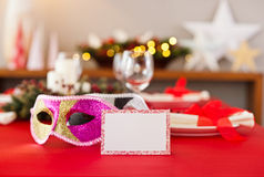 New Years dinner table setting Stock Photography