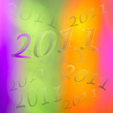 New Years Eve 2011 numbers background Royalty Free Stock Images