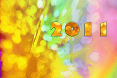 New Years Eve 2011 numbers background Royalty Free Stock Photo