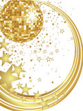 New years eve 2012. Illustration of a golden mirror ball and golden numbers Royalty Free Stock Photos