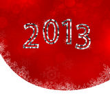 New years eve 2013. Illustration of numbers on a christmas background Stock Photo