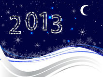 New years eve 2013. Illustration of numbers on a christmas background Stock Image