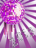 New years eve 2013. Illustration of a colorful mirror ball and numbers Royalty Free Stock Photos