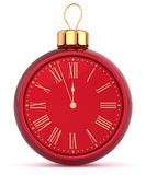 New Years Eve alarm clock bauble Christmas ball Royalty Free Stock Photography