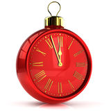 New Years Eve alarm clock midnight Royalty Free Stock Images