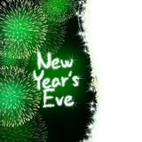 New years eve anniversary firework celebration party green royalty free illustration