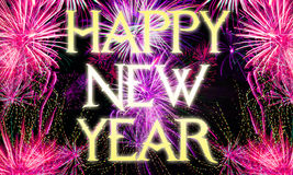 New years eve background - fireworks. Fireworks background for new years eve in 2016 and other celebrations Royalty Free Stock Photos