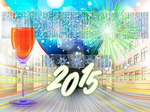 New Years eve background vector illustration