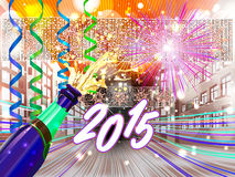 New Years eve background stock illustration