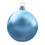 New Years Eve bauble blank. Christmas ball blue. Stock Photography