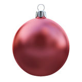 New Years Eve bauble blank. Christmas ball red Stock Image