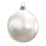 New Years Eve bauble blank. Christmas ball white. Royalty Free Stock Photography
