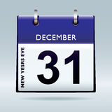 New years eve calendar blue Royalty Free Stock Photos