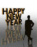 New Years Eve card invitation or background royalty free stock images