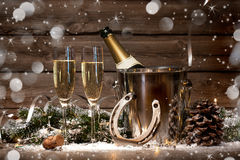 New Years Eve celebration Stock Photos