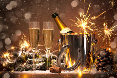 New Years Eve celebration Royalty Free Stock Photos