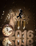 New Years Eve celebration Stock Image