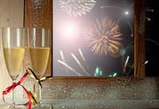 New years eve celebration Stock Images