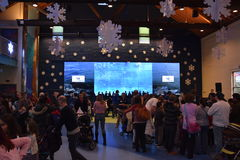 New Years Eve celebration at the Maritime Aquarium in Norwalk, Connecticut Stock Image