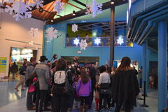 New Years Eve celebration at the Maritime Aquarium in Norwalk, Connecticut. USA Stock Photography