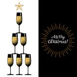 New years eve celebration. Black minimalistic round stickers. New years eve celebration. Retro minimalistic greeting card for happy new year and merry christmas vector illustration