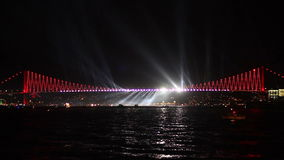 New Years Eve Celebrations in Istanbul stock video footage